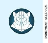 white polar bear. abstract... | Shutterstock .eps vector #561370921