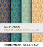 art deco seamless pattern with... | Shutterstock .eps vector #561371569