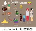 vector illustration set of...   Shutterstock .eps vector #561374071