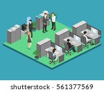 flat 3d isometric abstract...   Shutterstock .eps vector #561377569