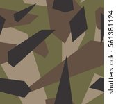 seamless vector camouflage... | Shutterstock .eps vector #561381124