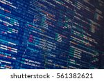 abstract computer program code... | Shutterstock . vector #561382621