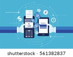 flat vector for business mobile ... | Shutterstock .eps vector #561382837