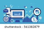flat vector for business ... | Shutterstock .eps vector #561382879