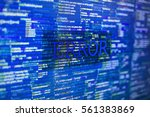 error in program code listing ... | Shutterstock . vector #561383869