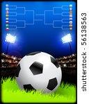 soccer ball on stadium... | Shutterstock .eps vector #56138563