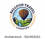 balloon travel logo   vector... | Shutterstock .eps vector #561403261