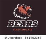 bears logo   vector... | Shutterstock .eps vector #561403369