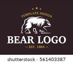 bear logo   vector illustration ... | Shutterstock .eps vector #561403387