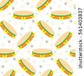 seamless pattern with... | Shutterstock .eps vector #561403837