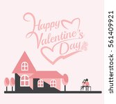 valentines day of a romantic... | Shutterstock .eps vector #561409921