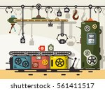 line of production. flat design ... | Shutterstock .eps vector #561411517