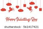 happy valentines day banner...   Shutterstock .eps vector #561417421