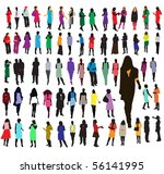 large group of women in various ... | Shutterstock .eps vector #56141995