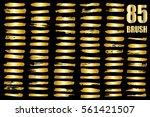 gold vector template set of... | Shutterstock .eps vector #561421507