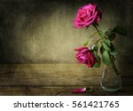 Still Life With Two Pink Roses...