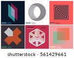 simplicity geometric design set ... | Shutterstock .eps vector #561429661