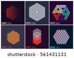 simplicity geometric design set ... | Shutterstock .eps vector #561431131