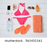 Flat Lay Items For Sunbathing