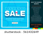 sale banner for each month.... | Shutterstock .eps vector #561432649
