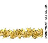hand drawn seamless pattern.... | Shutterstock .eps vector #561432685
