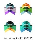 vector arrow infographics... | Shutterstock .eps vector #561433195