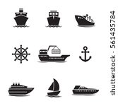 ships  boats icons set. black... | Shutterstock .eps vector #561435784