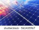 solar power generation... | Shutterstock . vector #561435967