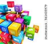 creative mobile applications ... | Shutterstock . vector #561435979