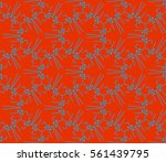 decorative wallpaper design in... | Shutterstock .eps vector #561439795