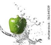 Fresh Water Splash On Green...