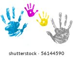 colorful hand painted isolated   Shutterstock . vector #56144590