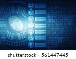 fingerprint scanning technology ... | Shutterstock . vector #561447445