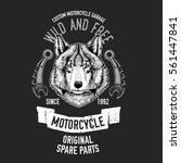 wild wolf vector image for... | Shutterstock .eps vector #561447841