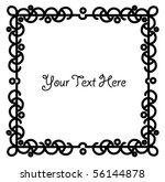 a bubbly abstract black border... | Shutterstock .eps vector #56144878