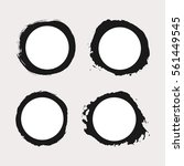 set of round frames were...   Shutterstock .eps vector #561449545