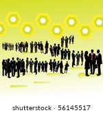 people and abstract background | Shutterstock .eps vector #56145517