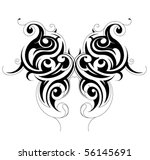 butterfly tattoo | Shutterstock .eps vector #56145691