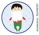 infant with fake white beard.... | Shutterstock .eps vector #561458707