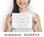 best wishes greeting cards gift ... | Shutterstock . vector #561459115