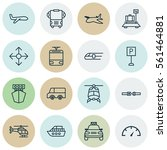set of 16 shipping icons.... | Shutterstock .eps vector #561464881