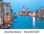 canal grande with basilica... | Shutterstock . vector #561465187