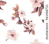 romantic seamless pattern with... | Shutterstock . vector #561468721