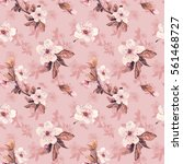 romantic seamless pattern with...   Shutterstock . vector #561468727