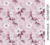 romantic seamless pattern with... | Shutterstock . vector #561468739