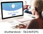 Small photo of User Profile Account Follow Concept