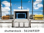 3d rendering luggage scanner in ... | Shutterstock . vector #561469309