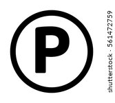 parking icon. | Shutterstock .eps vector #561472759