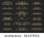 vintage decor elements and... | Shutterstock . vector #561475921