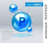 mineral p phosphorus blue... | Shutterstock .eps vector #561476329